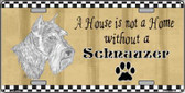 Pencil Sketch Schnauzer Metal Novelty License Plate