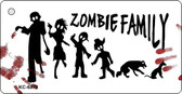 Zombie Family White Novelty Key Chain