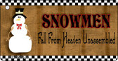Snowmen Fall From Heaven Novelty Key Chain