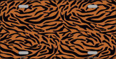 Tiger Print Background Metal Novelty License Plate