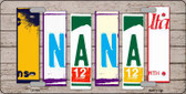 Nana Wood License Plate Art Novelty Metal License Plate