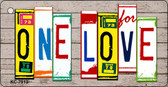 One Love Wood License Plate Art Novelty Key Chain