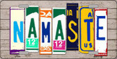 Namaste Wood License Plate Art Novelty Metal License Plate