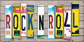 Rock N Roll Wood License Plate Art Novelty Metal License Plate