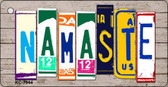 Namaste Wood License Plate Art Novelty Key Chain