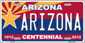Arizona Centennial Arizona Metal Novelty License Plate