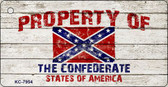 Property Of Confederate States Novelty Key Chain