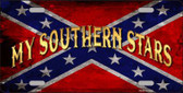 My Southern Stars Novelty Metal License Plate
