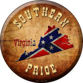 Southern Pride Virginia Novelty Metal Circular Sign