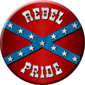 Rebel Pride Novelty Metal Circular Sign