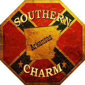 Southern Charm Arkansas Metal Novelty Stop Sign