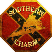 Southern Charm Virginia Metal Novelty Stop Sign