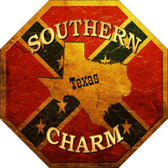 Southern Charm Texas Metal Novelty Stop Sign