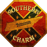 Southern Charm Tennessee Metal Novelty Stop Sign