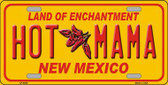 New Mexico Hot Mama Novelty Metal License Plate