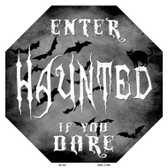 Haunted Metal Novelty Stop Sign