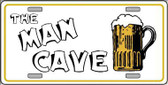 Man Cave Metal Novelty License Plate