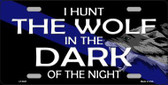 Hunt The Wolf Novelty Metal License Plate