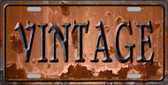 Vintage Rusty Sign Novelty Metal License Plate