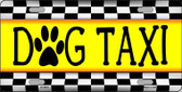 Dog Taxi Novelty Metal License Plate