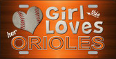 This Girl Loves Her Orioles Novelty Metal License Plate