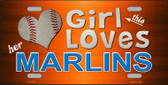 This Girl Loves Her Marlins Novelty Metal License Plate