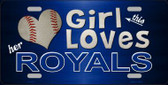 This Girl Loves Her Royals Novelty Metal License Plate