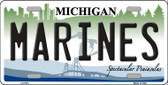 Marines Michigan Novelty Metal License Plate