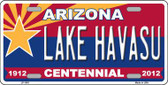 Arizona Centennial Lake Havasu Metal License Plate