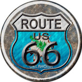 Oklahoma Route 66 Novelty Metal Circular Sign