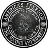 Americas Freedom Novelty Metal Circular Sign C-527