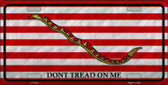 Dont Tread On Me Culpeper Novelty Metal License Plate