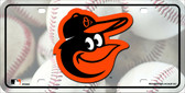 Baltimore Orioles Metal Novelty License Plate