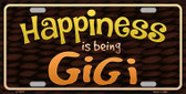 Happiness Is Being Gigi Novelty Metal License Plate