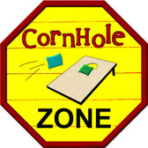 Corn Hole Zone Metal Novelty Stop Sign