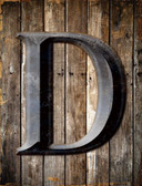 Letter D Metal Novelty Parking Sign