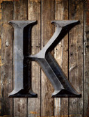 Letter K Metal Novelty Parking Sign