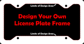 "Personalized Custom Aluminum License Plate Frame | 12"" x 6"""