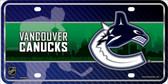 Vancouver Canucks Metal Novelty License Plate