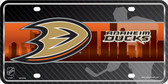 Anaheim Ducks Metal Novelty License Plate