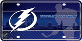 Tampa Bay Lightning Metal Novelty License Plate