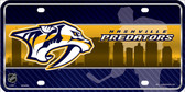 Nashville Predators Metal Novelty License Plate