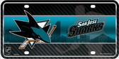 San Jose Sharks Metal Novelty License Plate
