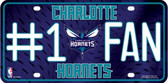 Charlotte Hornets Fan Metal Novelty License Plate