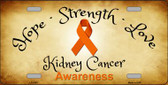 Kidney Cancer Novelty Metal License Plate