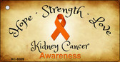 Kidney Cancer Novelty Metal Key Chain
