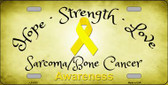 Sarcoma Bone Cancer Novelty Metal License Plate