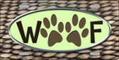 Woof Novelty Metal License Plate