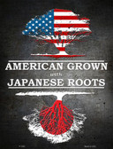 American Grown Japanese Roots Metal Novelty Parking Sign