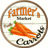 Farmers Market Carrots Novelty Metal Circular Sign